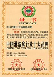中国淋浴房行业十大品牌